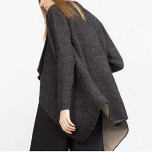 Zara Sweaters - NWT Zara Wool Blend Open Front Longline Cardigan
